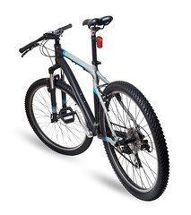 Mountain bicycle bike on white background