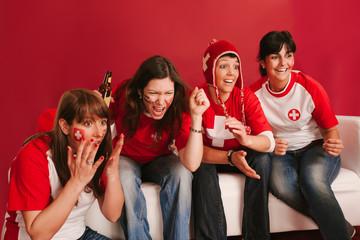 Crazy Swiss sports fans