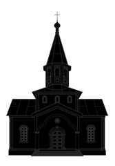 silhouette church