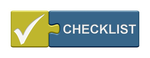 Puzzle-Button gold blau: Checklist