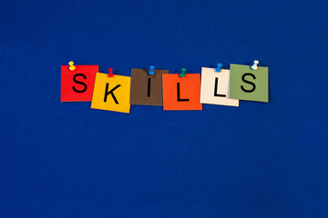 Skills - sign series for business skills and training