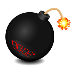 Black bomb about to explode