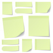 Light Green Stick Notes Set
