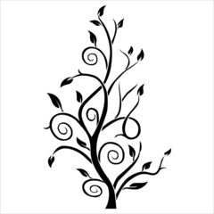Abstract tree silhouette. tattoo. Vector