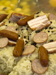 Choucroute garnie - famous french dish from Alsace
