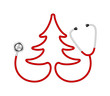 Stethoscope in shape of tree