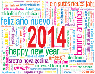 "Carte de Voeux Carte ""BONNE ANNEE 2014"" (happy new year)"