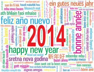 """Carte de Voeux Carte """"BONNE ANNEE 2014"""" (happy new year)"""