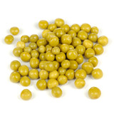 Pile of Canned Peas Isolated on White Background