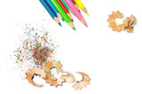 Pencils Shavings Background