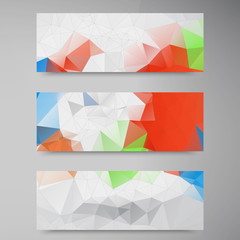 Vector abstract background. Origami geometric and Polygon