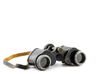 single vintage binocular