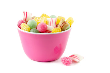 dutch candy in a pink bowl