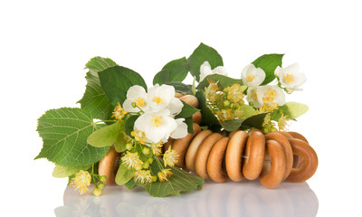 Bagels, the linden and jasmine flowers