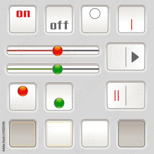 UI sliders and buttons
