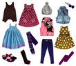 Collage of kids clothing