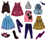 Fototapety Collage of kids clothing