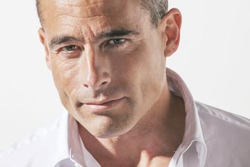 Portrait of handsome mature man.