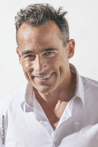 Portrait of handsome mature man.