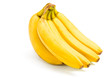Close up of bananas, isolated