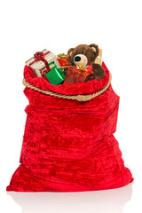 Christmas sack full of toys