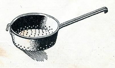 Colander or kitchen sieve