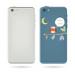 vector smart phone cover illustration