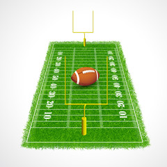 American football field perspective, Vector illustration