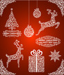 Abstract christmas symbols