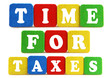 time for taxes concept