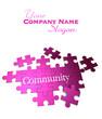 Purple pink Community puzzle