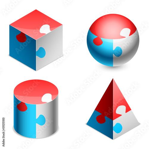 Puzzle figures.