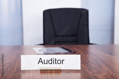 Nameplate With Auditor Title