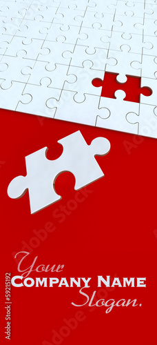 Red and white puzzle