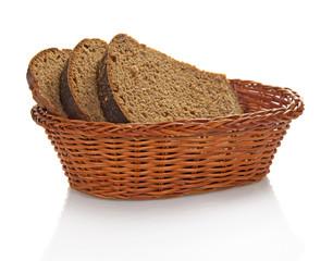 Fresh whole grain bread cuting on slices