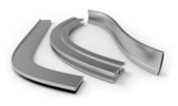 Curved aluminum profile