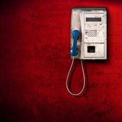 telefono pubblico grunge