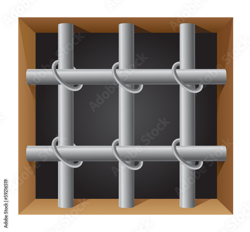 prison bar vector illustration