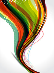 dotted colorful wave background