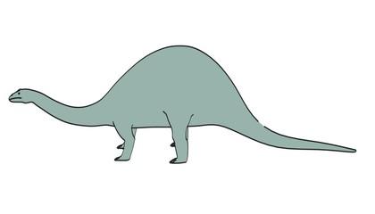 cartoon image of brontosaurus dino