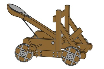 cartoon image of catapult weapon