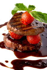 beef steak in balsamic sauce
