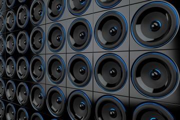 Lautsprecher Wand - Schwarz Blau 2