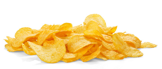 Golden appetizing chips