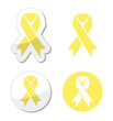 Pale yellow ribbon -ymbol of spina bifida