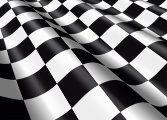 Waving chequered flag