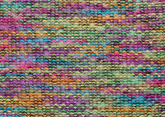 Colorful knitted fabric