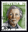 Postage stamp Switzerland 1996 S.Corinna Bille, Writer