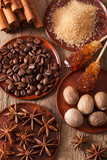 spices cinnamon anise nutmeg rock sugar coffee