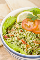 Tabbouleh - Arabic salad made with bulghur wheat